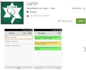 CalTIP app